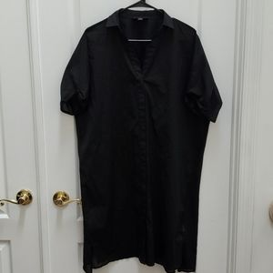 DKNY Button Up Blouse with Sheer Back NWOT